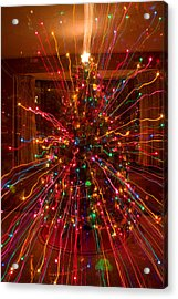 Crazy Fun Christmas Tree Lights Abstract Print Acrylic Print by James BO  Insogna