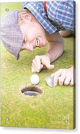 Crazy Golfer Acrylic Print