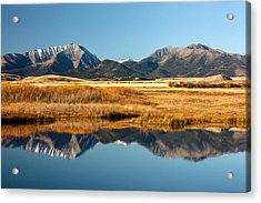 Crazy Mountain Reflections Acrylic Print by Todd Klassy