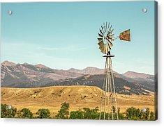 Crazy Mountain Windmill Acrylic Print by Todd Klassy