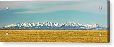 Crazy Mountains And Plains Acrylic Print by Todd Klassy