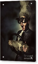 Crazy Speed Car Driver Acrylic Print by Jorgo Photography - Wall Art Gallery