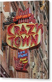 Acrylic Print featuring the photograph Crazy Town by Stephen Stookey