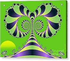 Acrylic Print featuring the digital art Crazy Tree  by Sandra Bauser Digital Art