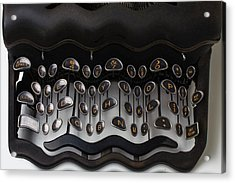 Crazy Typewriter Acrylic Print by Garry Gay