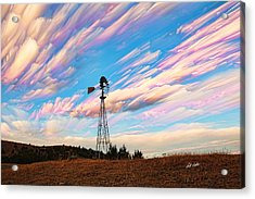 Acrylic Print featuring the photograph Crazy Wild Windmill by Bill Kesler