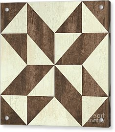 Cream And Brown Quilt Acrylic Print by Debbie DeWitt