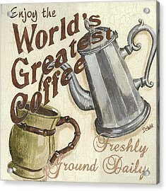 Cream Coffee 1 Acrylic Print by Debbie DeWitt
