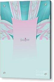 Cream Mint Acrylic Print