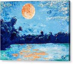 Creamsicle Moon Acrylic Print