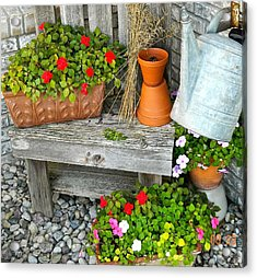 Creative Garden Setting Acrylic Print by Randy Rosenberger