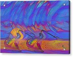 Acrylic Print featuring the digital art Creative Motion by Linda Sannuti