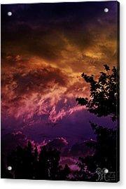 Acrylic Print featuring the photograph Creative Sunset by Karen Musick