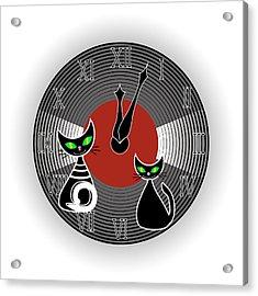 Creative Wall Clock Acrylic Print by Marina Usmanskaya