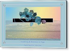Acrylic Print featuring the photograph Creativity And Awareness In Yoga by Felipe Adan Lerma