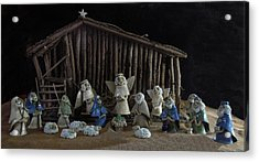 Creche Sraight On View Acrylic Print by Nancy Griswold