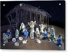 Creche Top View  Acrylic Print by Nancy Griswold