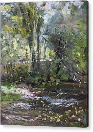 Creek At Three Sisters Islands Acrylic Print by Ylli Haruni