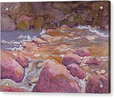 Creek In Spring Acrylic Print by Robert Bissett
