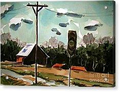Creek Road Turn Acrylic Print