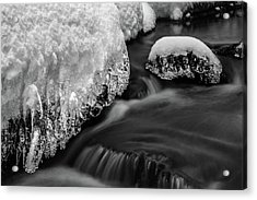 Creek Under The Ice Acrylic Print