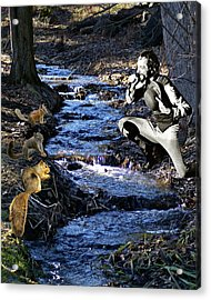 Acrylic Print featuring the photograph Creekside Serenade By Ian by Ben Upham