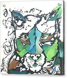 Acrylic Print featuring the painting Creep by Nicole Gaitan