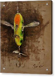 Creeper Muskie Lure Acrylic Print by Larry Seiler