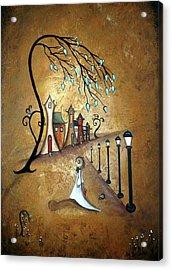Creeper Village Acrylic Print by Charlene Zatloukal