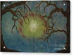 Acrylic Print featuring the painting Creeping by Jacqueline Athmann