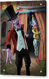 Acrylic Print featuring the painting Creepy Circus by Martin Davey