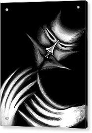 Creepy Figure Acrylic Print by Jera Sky
