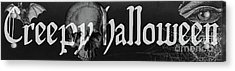 Creepy Halloween Acrylic Print by Mindy Sommers