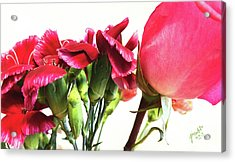 Creepy-red Flowers Acrylic Print