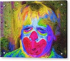 Creepy The Clown Acrylic Print by Deborah MacQuarrie-Haig