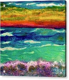 Crepe Paper Sunset Acrylic Print
