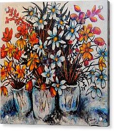 Crescendo Of Flowers Acrylic Print