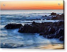 Crescent Bay Rocks Acrylic Print