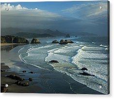 Crescent Beach And Surf Acrylic Print