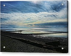 Crescent Beach At Dusk Acrylic Print