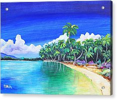 Acrylic Print featuring the painting Crescent Beach by Patricia Piffath