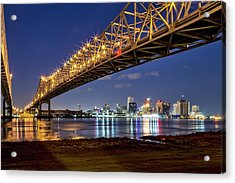 Crescent City Bridge, New Orleans Acrylic Print
