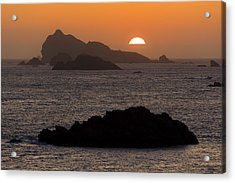 Crescent City Sunset From Battery Point Lighthouse Acrylic Print