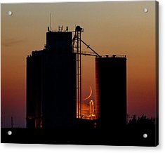 Acrylic Print featuring the photograph Crescent Moon At Laird 08 by Rob Graham