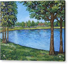 Acrylic Print featuring the painting Crest Lake Park by Penny Birch-Williams