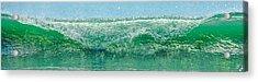 Cresting Wave Acrylic Print by Paula Porterfield-Izzo