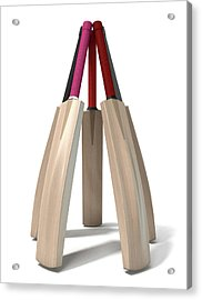 Cricket Bat Circle Acrylic Print by Allan Swart