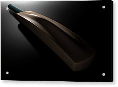 Cricket Bat Dark Acrylic Print by Allan Swart