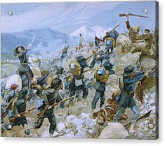Crimean War And The Battle Of Chernaya Acrylic Print by Italian School