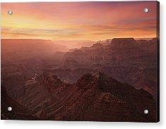 Crimson Canyon Acrylic Print by Adam Schallau